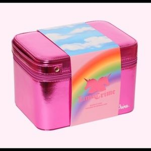Lime Crime Birthday Train Case Makeup Bag NWT